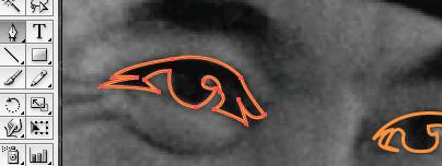 Lanjutkan trace mata kiri