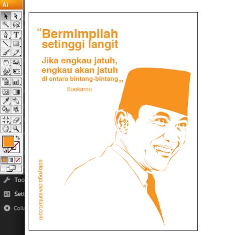 Hasil akhir tracing vector Soekarno
