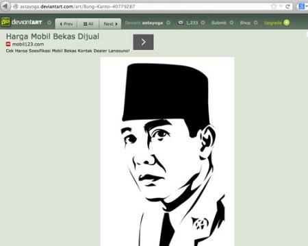 Ilustrasi Vector Soekarno Asli