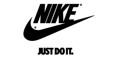 "Tagline 'Just Do It"" di logo Nike"