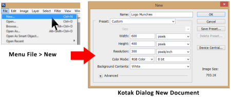 Kotak Dialog New Document