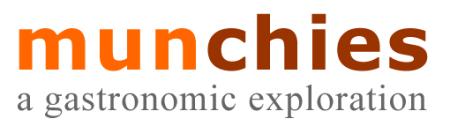 Hasil akhir logo 'munchies'